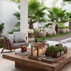 Средиземноморско-тропический стиль в оформлении террасы.