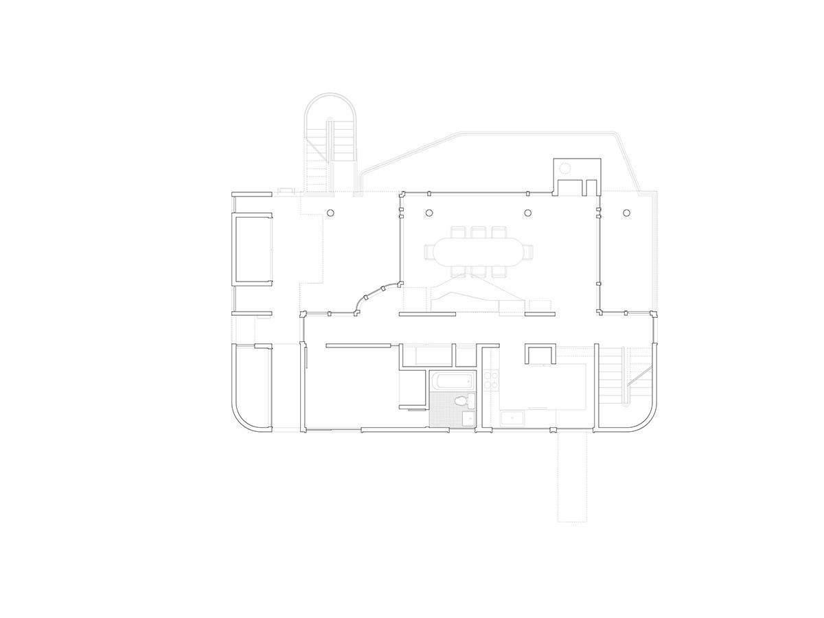Первый уровень дома.