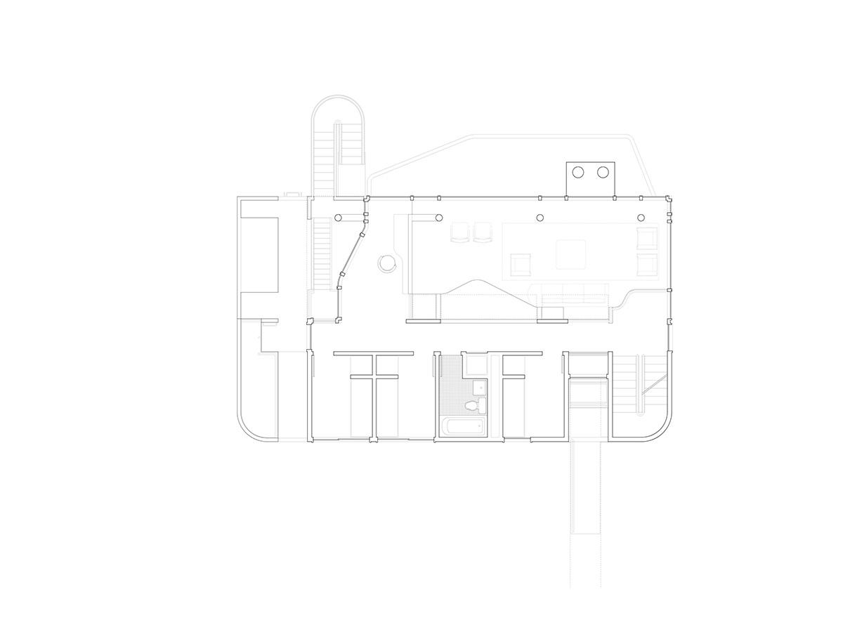 Третий уровень дома.