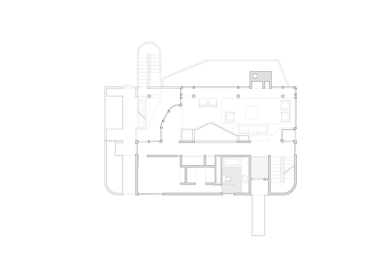 Второй уровень дома.
