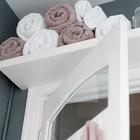 Добавив полку или шкаф над дверью можно получить немного дополнительного места в любой комнате. (хранение,гардероб,шкаф,комод,мебель,интерьер,дизайн интерьера,маленький дом,квартиры,апартаменты,сделай сам,самоделки)