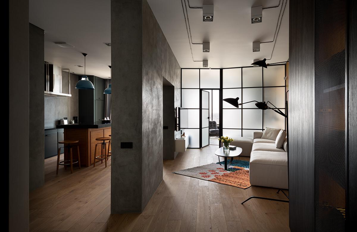 лофт в однокомнатной квартире фото