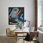 Большой стол полезен даже в самой маленькой квартире. Он может быть центром встреч семьи и гостей, а также своеобразной заменой домашнего офиса. (квартиры,апартаменты,скандинавский,минимализм,интерьер,дизайн интерьера,мебель,столовая,дизайн столовой,интерьер столовой,мебель для столовой)