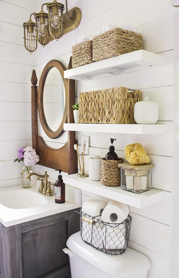 Светильники в стиле лофт отлично подходят к современной ванной комнате