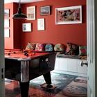Игровая комната в английском стиле с бильярдом. (индустриальный,лофт,винтаж,стиль лофт,индустриальный стиль,архитектура,дизайн,экстерьер,интерьер,дизайн интерьера,мебель,эклектика,смешение стилей,жилая комната)