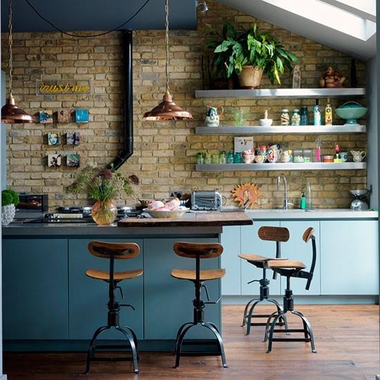 Глядя на кухню трудно поверить, что это Лондон.