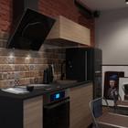 Не смотря на то что на кухне не предполагается готовить, она содержит всю необходимую бытовую технику, включая холодильник SMEG. (индустриальный,лофт,винтаж,стиль лофт,индустриальный стиль,квартиры,апартаменты,интерьер,дизайн интерьера,мебель,кухня,дизайн кухни,интерьер кухни,кухонная мебель,мебель для кухни,столовая,дизайн столовой,интерьер столовой,мебель для столовой)