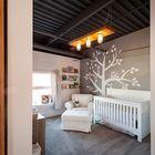 Детская в стиле лофт в Ванкувере с темным потолком. (детская,игровая,детская комната,детская спальня,дизайн детской,интерьер детской,индустриальный,лофт,винтаж,стиль лофт,индустриальный стиль,мебель,интерьер,дизайн интерьера,традиционный)