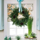Кто бы мог подумать что зеленые луковицы могут стать новогодним украшением.