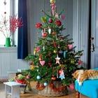 Это дерево с натяжкой можно отнести к минимализму, однако и такая елка может подойти к вашему интерьеру. Главное не потерять за украшениями елку. (новый год,рождество,елка,подарки,декор,елочные игрушки,хвоя,гирлянды,конфети,сделай сам,самоделки,интерьер,дизайн интерьера,минимализм,скандинавский)