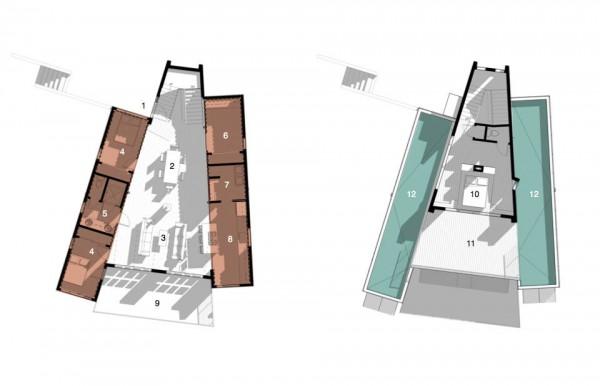 План дома из контейнеров