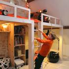 Сложное пространство детской значительно интереснее для ребенка, можно даже канат повесить. (кровать-лофт,двухъярусная кровать,детская кровать,детская,игровая,детская комната,детская спальня,дизайн детской,интерьер детской,индустриальный,лофт,винтаж,стиль лофт,индустриальный стиль,архитектура,дизайн,экстерьер,интерьер,дизайн интерьера,мебель)