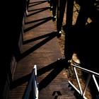 Дорожка к гостевым спальням первого уровня и лестнице на второй уровень. (вход,прихожая,на открытом воздухе,патио,балкон,терраса,фасад,пляжный,индустриальный,лофт,винтаж,архитектура,дизайн,интерьер,экстерьер,маленький дом)