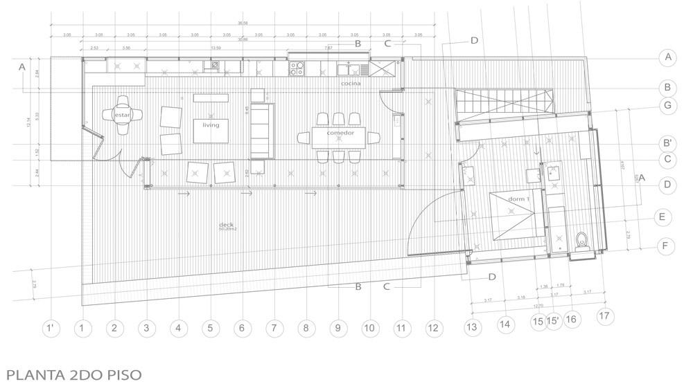 План второго уровня дома