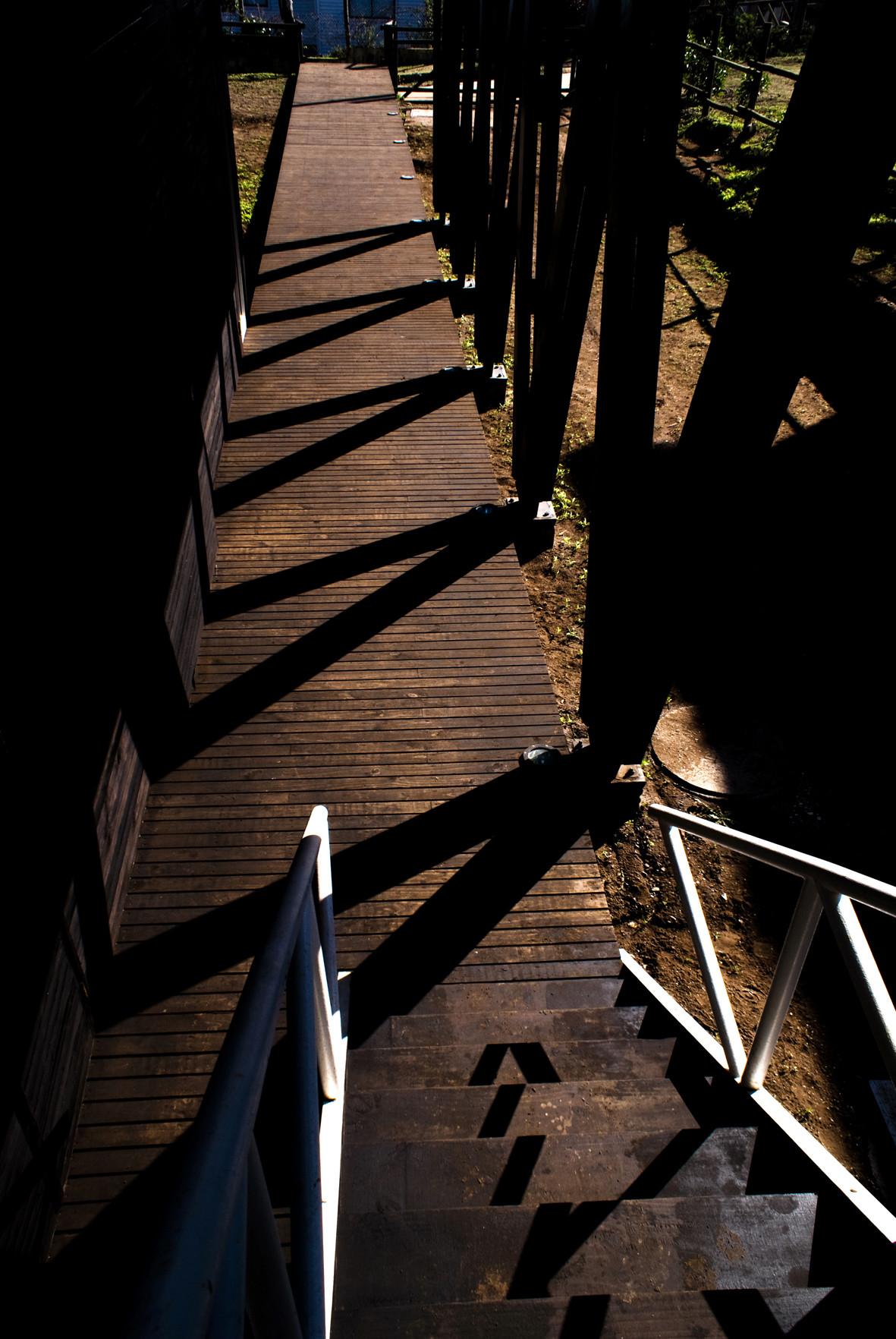 Дорожка к гостевым спальням первого уровня и лестнице на второй уровень
