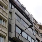 Фасад здания построенного Ле Корбюзье, Париж, Франция.