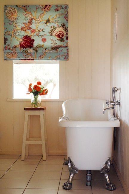 Римская штора с цветочным принтом