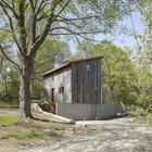 Фасад обшитый деревом дуба (фасад,современный,архитектура,дизайн,интерьер,экстерьер)