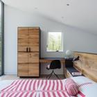 Спальня, мебель отделана состареным дубом (спальня,современный,мебель,архитектура,дизайн,интерьер,экстерьер)