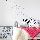 Минимализм интерьера детской в скандинавском стиле часто компенсируется рисунками на стенах. (спальня,дизайн спальни,интерьер спальни,скандинавский,скандинавский интерьер,скандинавский стиль,интерьер,дизайн интерьера,мебель)