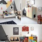 Висящие на стене шкафы создают ощущение простора в детской и упрощают уборку.