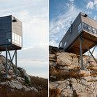 Стальные поддерживающие дом опоры с близкого расстояния. (архитектура,дизайн,экстерьер,маленький дом,минимализм)