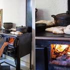 Дровяная печь добавляет уюта и колорита. Ее часто используют для приготовления традиционных блюд в горшочках. (кухня,дизайн кухни,интерьер кухни,кухонная мебель,мебель для кухни,фото кухни,мебель,интерьер,дизайн интерьера,индустриальный,лофт,винтаж,стиль лофт,индустриальный стиль)