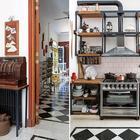Кассовый аппарат долго ждал своего времени в подвале, пока не занял свое место на столике в стиле лофт. (кухня,дизайн кухни,интерьер кухни,кухонная мебель,мебель для кухни,фото кухни,мебель,интерьер,дизайн интерьера,индустриальный,лофт,винтаж,стиль лофт,индустриальный стиль)