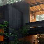 Терраса построена таким образом, чтобы не навредить деревьям выросшим за период строительства дома. (1950-70е,середина 20-го века,медисенчери,медисенчери модерн,модерн,средневекоый модерн,модернизм,mcm,архитектура,дизайн,экстерьер,интерьер,дизайн интерьера,мебель,фасад)