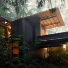 Угловые окна создают необычную связь интерьера дома с окружающим пространством. (1950-70е,середина 20-го века,медисенчери,медисенчери модерн,модерн,средневекоый модерн,модернизм,mcm,архитектура,дизайн,экстерьер,интерьер,дизайн интерьера,мебель,фасад)