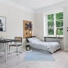 Не стоит  отказывать себе в полноценной кровати. (столовая,гостинная,спальня,скандинавский,мебель,архитектура,дизайн,интерьер,экстерьер,квартиры,апартаменты)