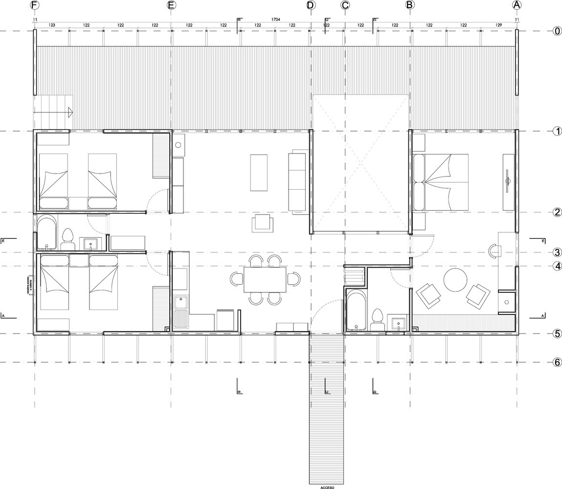 План одноэтажного дома.