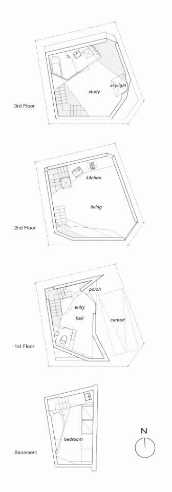 Планы этажей дом