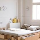 Кровать может быть системой хранения само по себе.