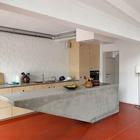 Элегантный бетонный кухонный остров в стиле минимализм подойдет практически к любому современному интерьеру.