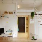 Небольшая городская квартира в двух уровнях. С гостевой спальней на втором уровне.