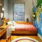 Сейчас совсем не трудно использовать в оформлении детской фотообои в виде карты мира.