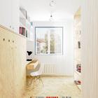 На стене слева в кабинете находится откидная кровать позволяющая превратить домашний офис в гостевую спальню. (квартиры,апартаменты,интерьер,дизайн интерьера,мебель,архитектура,дизайн,экстерьер,современный,минимализм,домашний офис,офис,мастерская,фото домашнего офиса,мебель для омашнего офиса,идеи домашнего офиса,компьютерный стол)