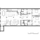 План нижнего уровня квартиры.