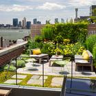 Зеленый садик на крыше квартиры с шикарным видом - прерогатива не каждой городской квартиры.