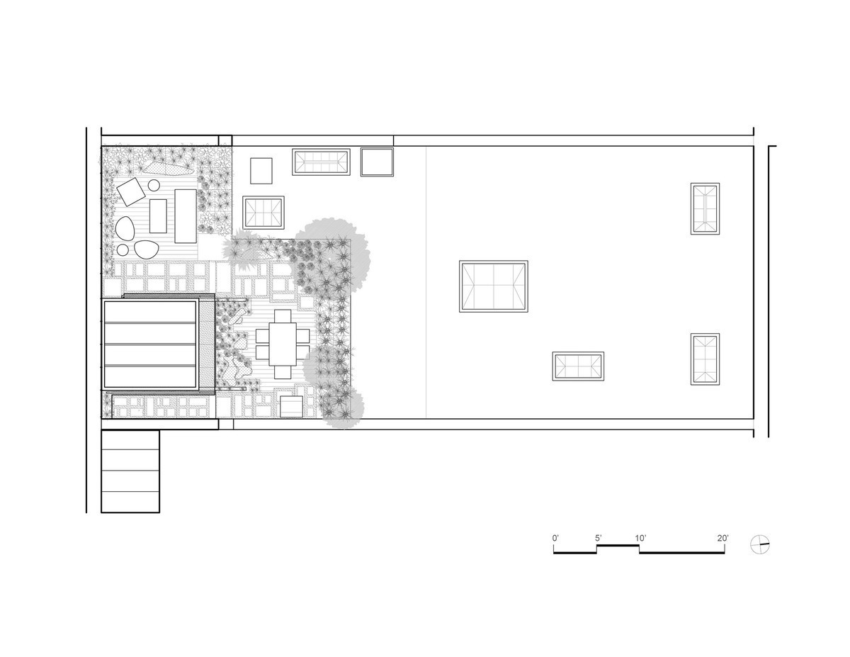 План сада на крыше квартиры.