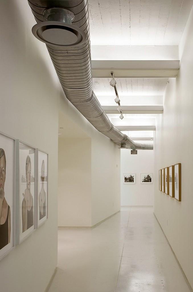 Художественная галерея на верхнем уровне дома.