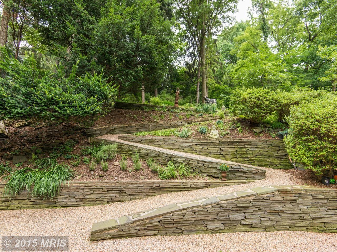 Дорожка для прогулок в саду у дома.