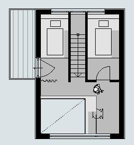 План второго этажа дома.