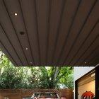 Дополнительная подсветка в перекрытии нависающей спальни превращают площадку под ней в выставочную витрину для любимой машины владельца дома. (архитектура,дизайн,экстерьер,современный,минимализм,фасад,гараж,парковка,сарай)