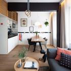 Центром каждого номера является жилая комната. (столовая,гостинная,кухня,современный,мебель,архитектура,дизайн,интерьер,экстерьер)