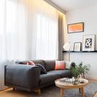 В каждом номере есть телевизор, который можно посмотреть сидя на удобном диване. (гостинная,современный,архитектура,дизайн,интерьер,экстерьер,мебель)