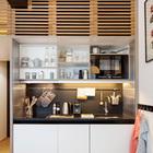 Маленькие кухни вполне функциональны и могут заменить домашнюю кухню на некоторое время. (кухня,современный,мебель,архитектура,дизайн,интерьер,экстерьер)