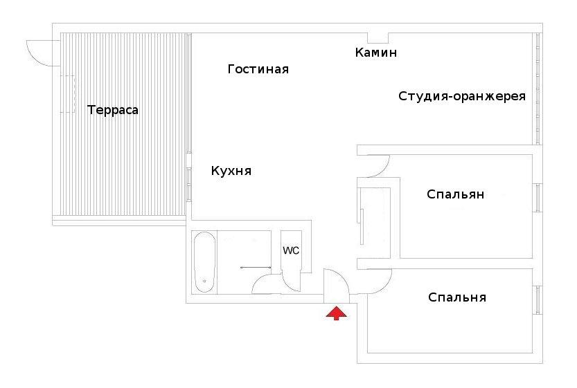 План квартиры.