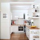 Кухня является продолжением жилой комнаты, именно поэтому ее украшают картины. (квартиры,апартаменты,мебель,интерьер,дизайн интерьера,архитектура,дизайн,экстерьер,современный,кухня,дизайн кухни,интерьер кухни,кухонная мебель,мебель для кухни,фото кухни)